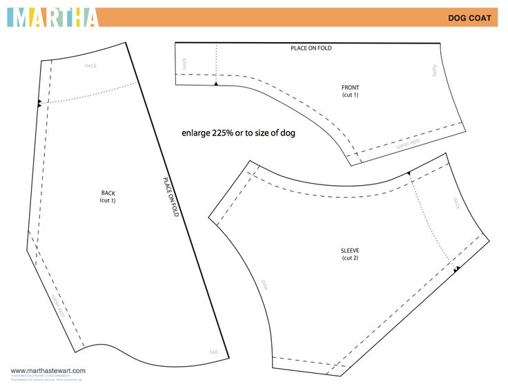 Dog Coat Patterns Dress The Dog Clothes For Your Pets