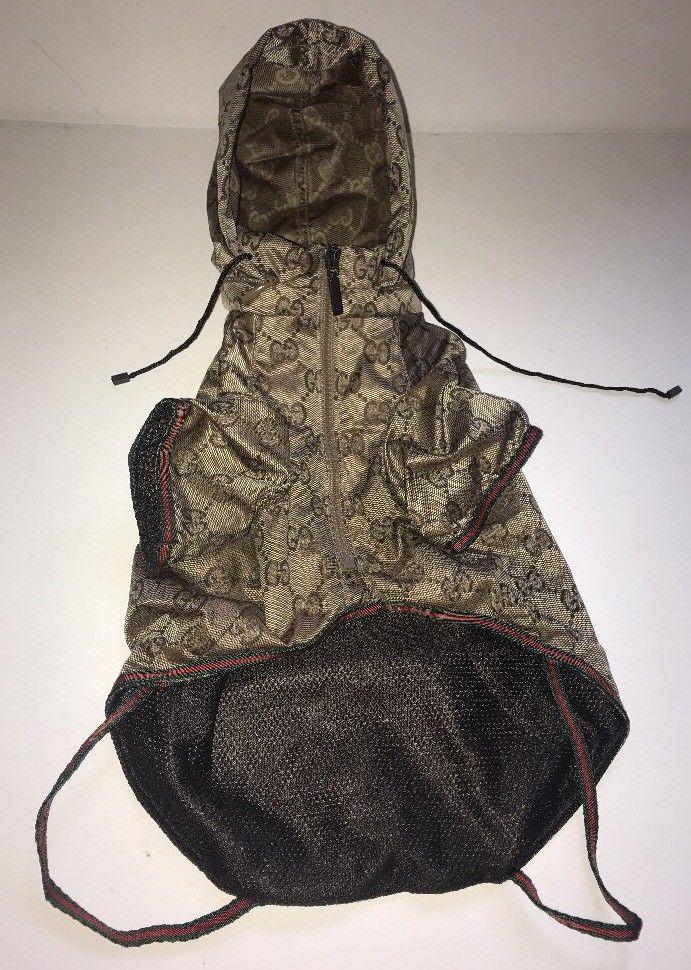 Gucci Dog Coat Jacket W Hood Small Size