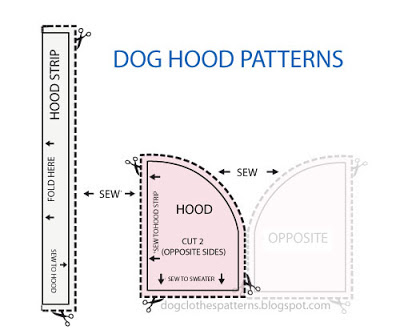 Dog Hoodie Pattern photo - 1