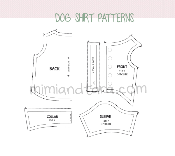 Dog Shirt Pattern photo - 1
