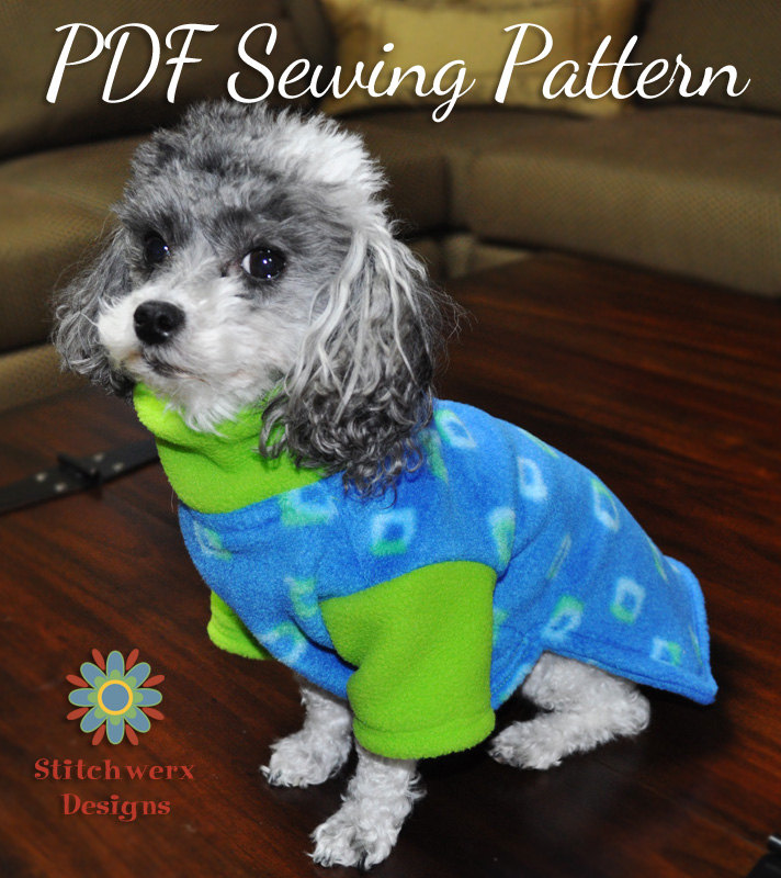 Dog Sweater Sewing Pattern | Dress The Dog - clothes for your pets!