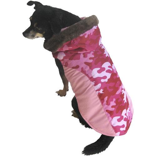 Pink Camo Dog Coat photo - 1