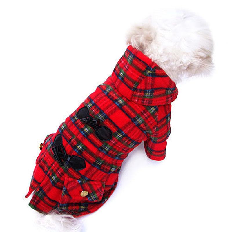 Plaid Dog Coat photo - 1