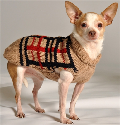 Plaid Dog Sweater photo - 3