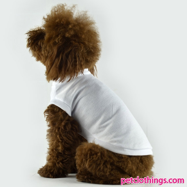Plain White Dog T Shirts photo - 3