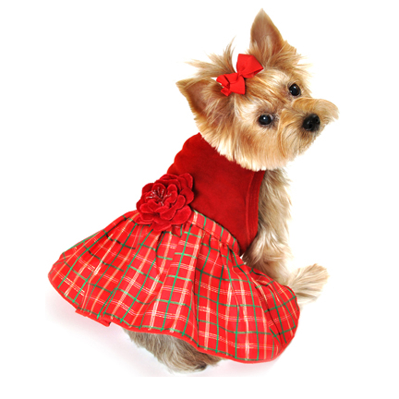 Red Dog Dress photo - 1 - Red Dog Dress –� Dress The Dog - Clothes For Your Pets!